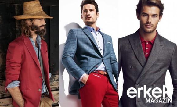 erkek modası kırmızı