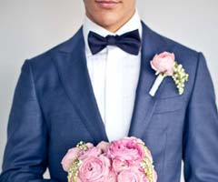 Mavi renk takım elbiseler