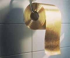 22 ayar altın tuvalet kâğıdı