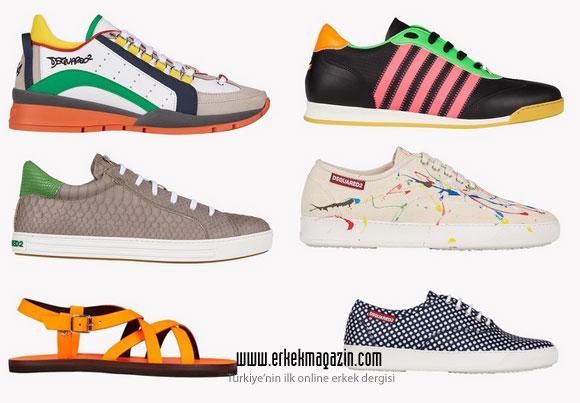 Dsquared2 2015 İlkbahar-Yaz Erkek Koleksiyonu Ayakkabılar