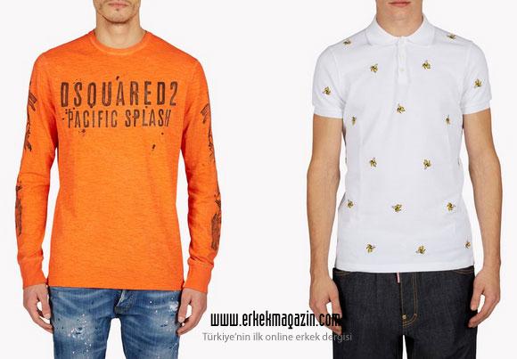 Dsquared2 2015 İlkbahar-Yaz Erkek Koleksiyonu Tişörtler