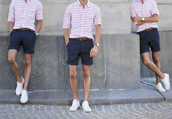 Chino kısa pantolon kombin