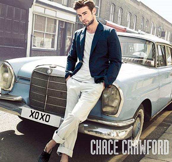 Chace Crawford Beyaz Erkek Giyim