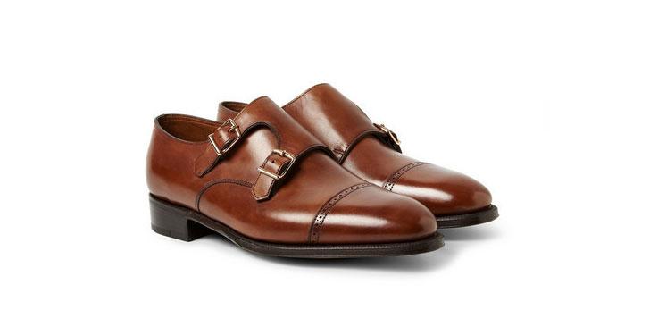 Açık Kahverenginde Tokalı Ayakkabılar Monk Strap