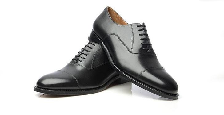 Cap Toe Oxford Siyah Ayakkabı