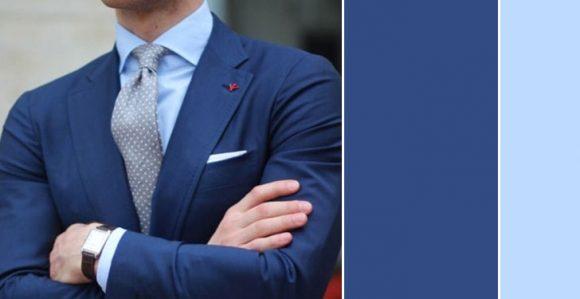 Mavi ceket açık mavi gömlek kombin