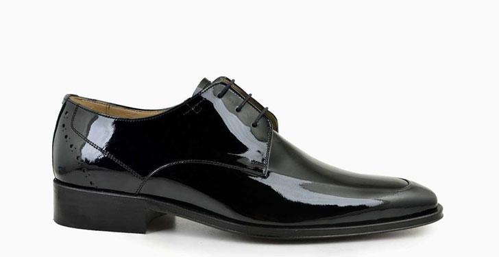 Siyah Rugan Ayakkabılar