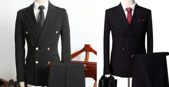 Kruvaze Siyah Takım Elbise-04